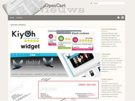 OpenCart Nieuws