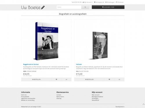 Uw boekje webwinkel